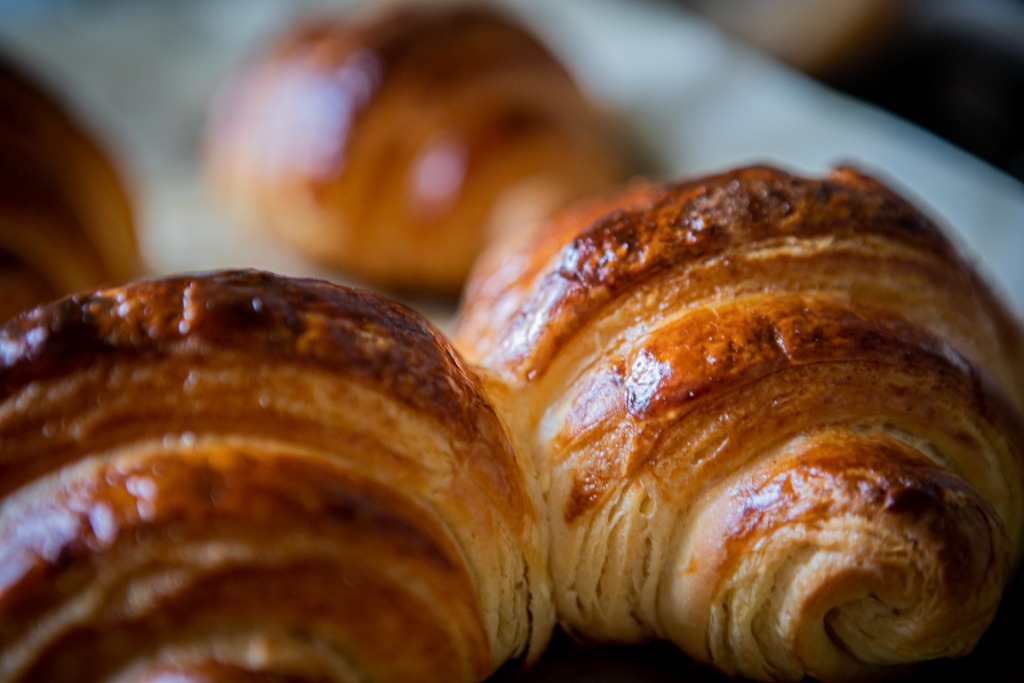 Croissants frisch aus dem Ofen