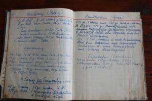 Handschriftliches Rezept für Hefeblätterteig