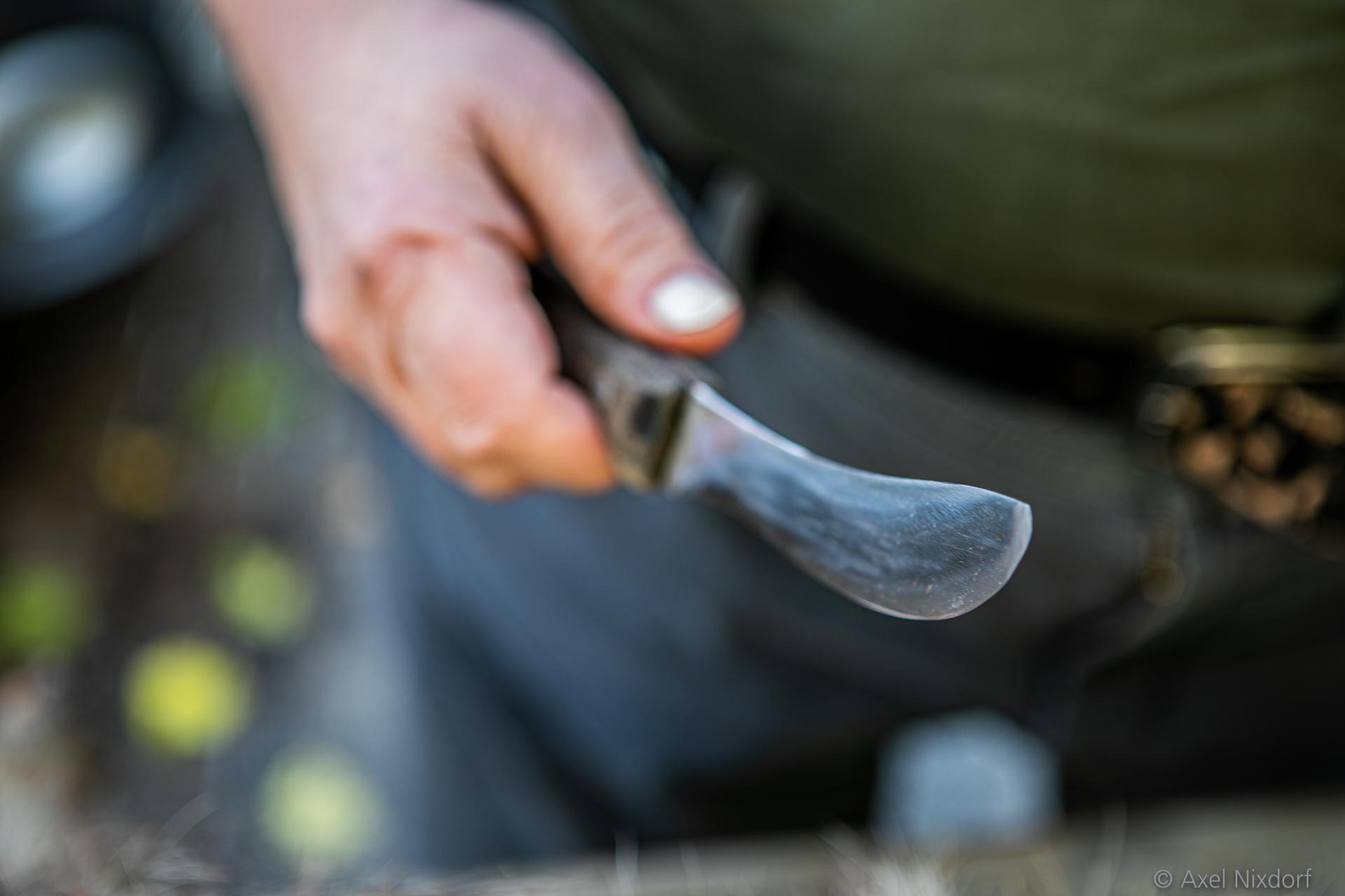 Scharfes Messer mit Schärfentiefe